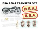 BSA A30 175cc Transfer Decal Sets